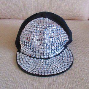 Silver Studded Baseball Cap Ha-Stuba Cappels NEW